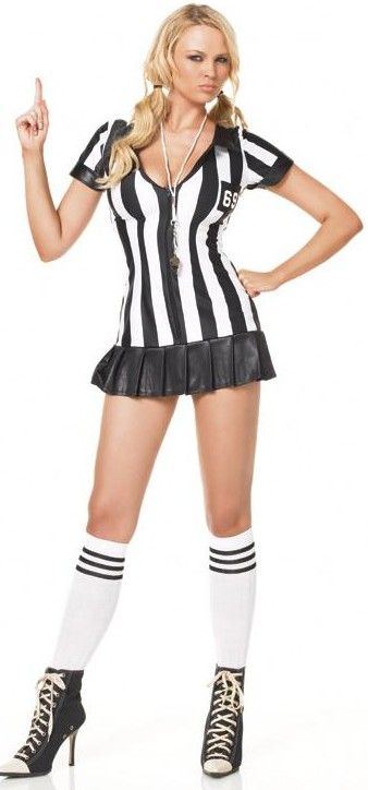 3a691f139c2ac0 FANCY DRESS GAME OFFICIAL REFEREE COSTUME   REFEREE GIRL OUTFIT   UMPIRE  UNIFORM - SEXY 3 PC REF GIRLS COSTUMES
