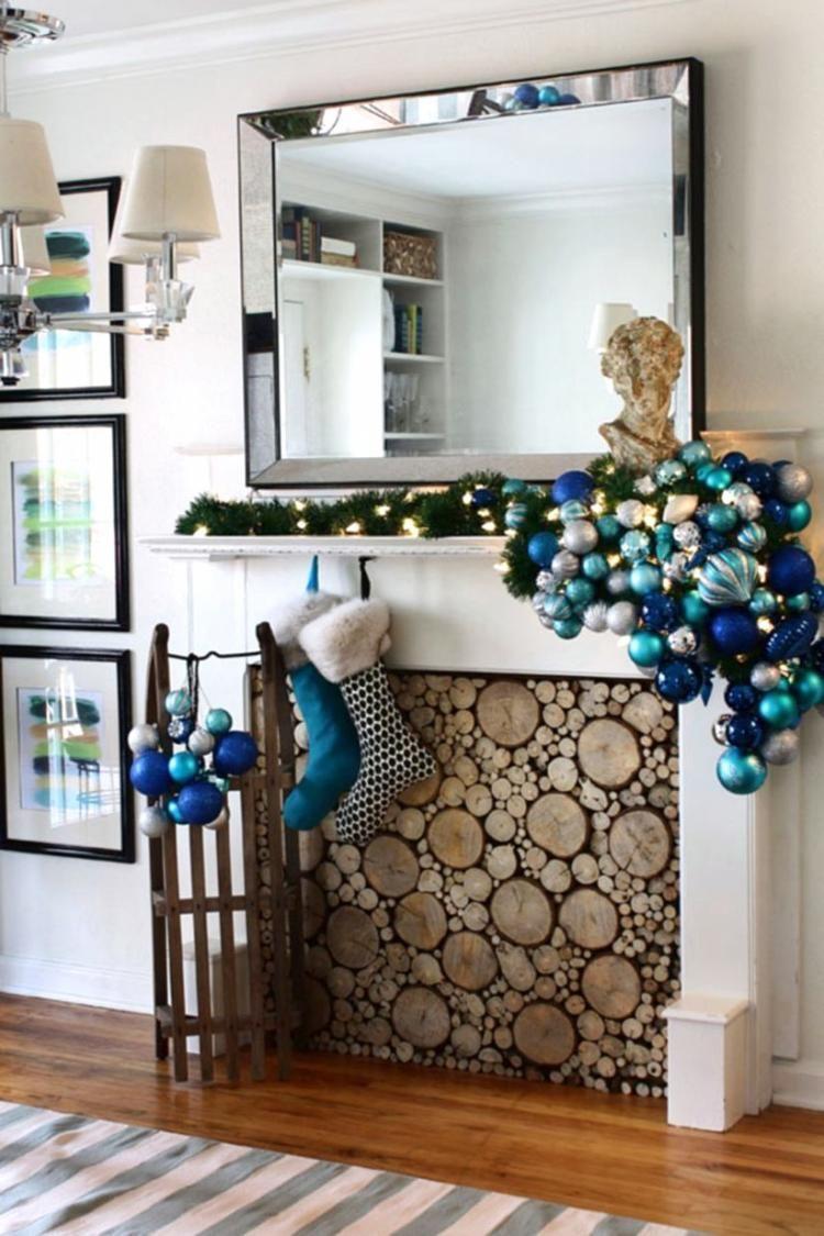 40 stunning wood slice fireplace cover design ideas | christmas tree