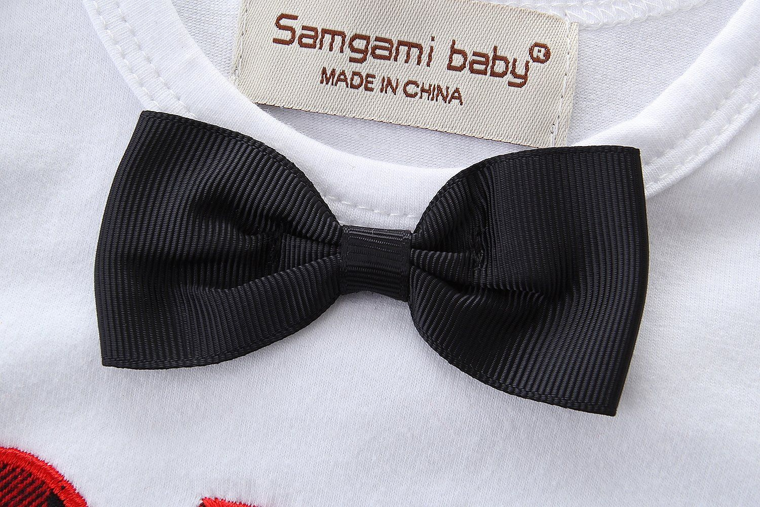 980f99c1 Newborn Baby Boy Clothing Set Bowtie Romper Suspenders Ripped Denim Pants  Outfits ** Check out