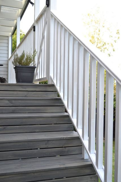 In The Night Sky The House Painting Update Deck Colors Exterior Stairs Outdoor Deck Decorating