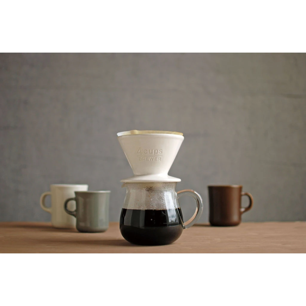 Kinto Scs 4 Cups Brewer White Coffee Dripper Pour Over Coffee Coffee Fashion [ 1000 x 1000 Pixel ]