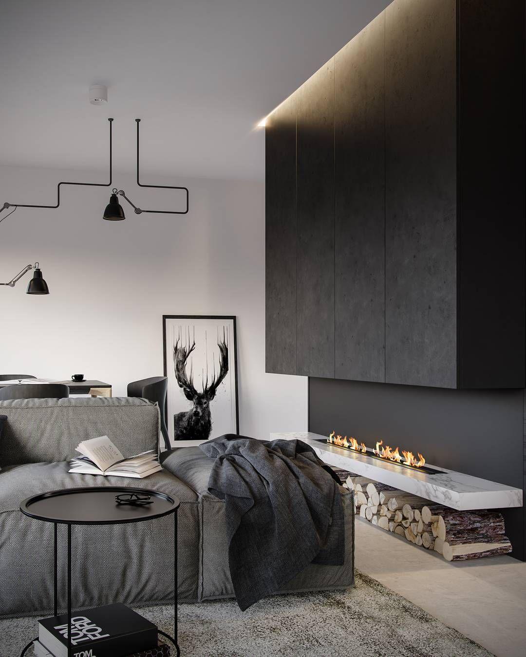 Anna Potapenko _ Rendering VRay 3DSMax | modern interior design