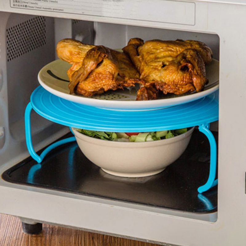 Price Tracker And History Of 4 Microwave Plastic Stand Holder Kitchen Plate Rack Anti Heat Bowl Cooling Tools