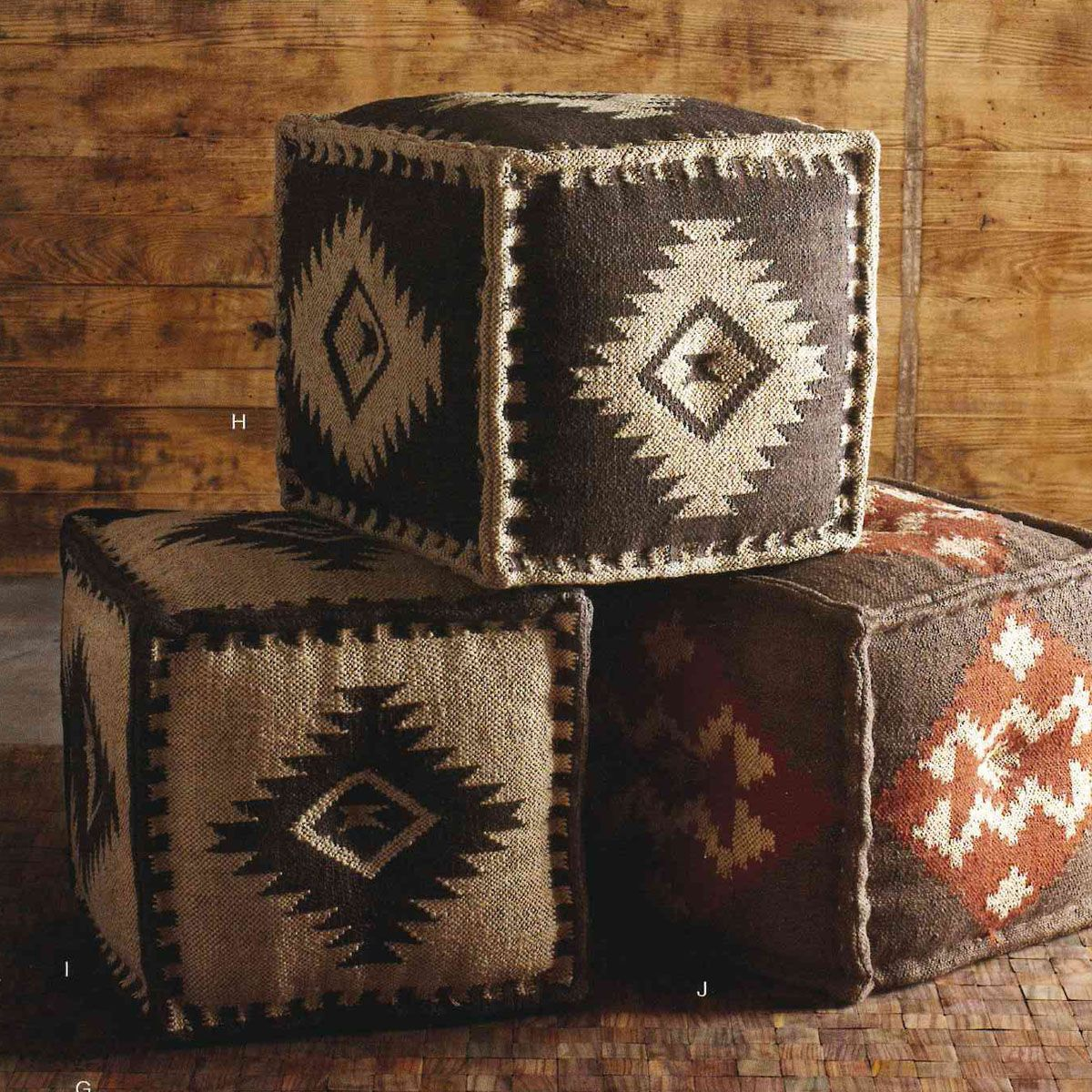 These Natural Fiber Ottomans Would Be Great As Extra