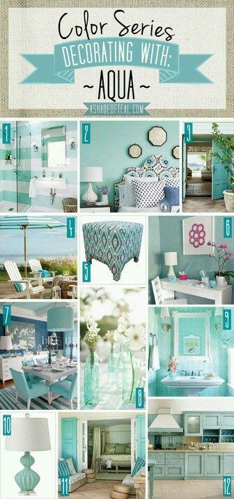 Decorating With Aqua Home Decor Accessories Design House Colors