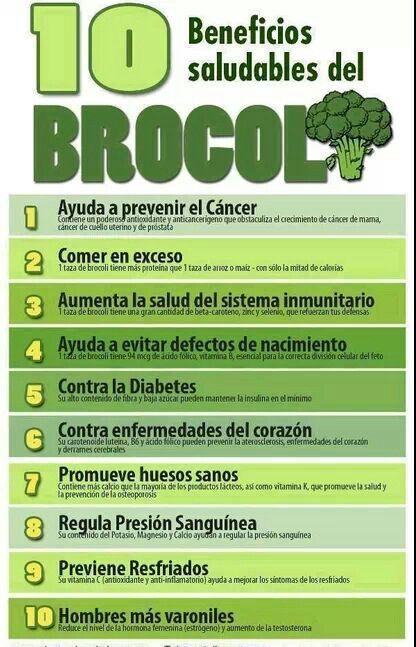 Beneficios Saludables Del Brocoli Salud Recetas Para La Salud Nutrición