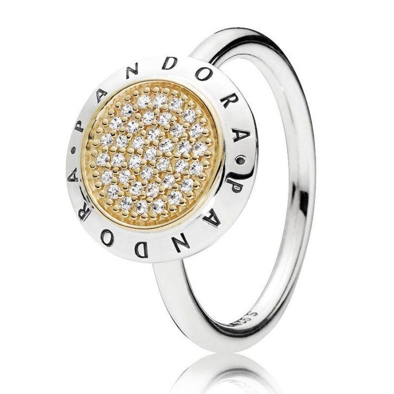anillo pandora flor nacar