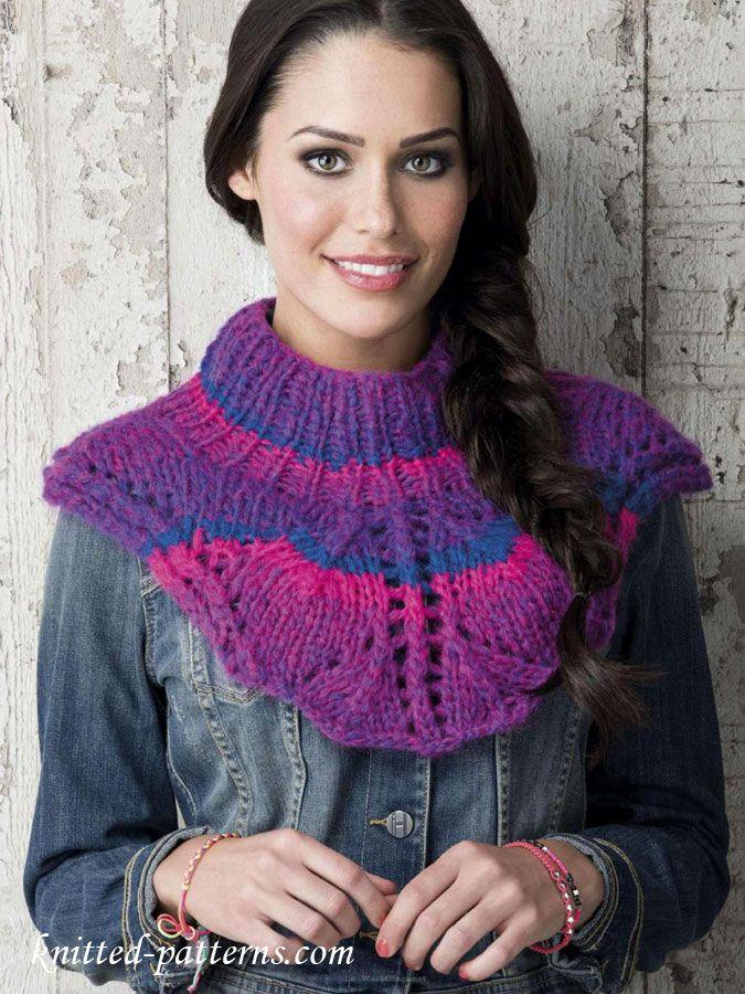 Shoulder cape knitting pattern free | Free knitting patterns | Pinterest