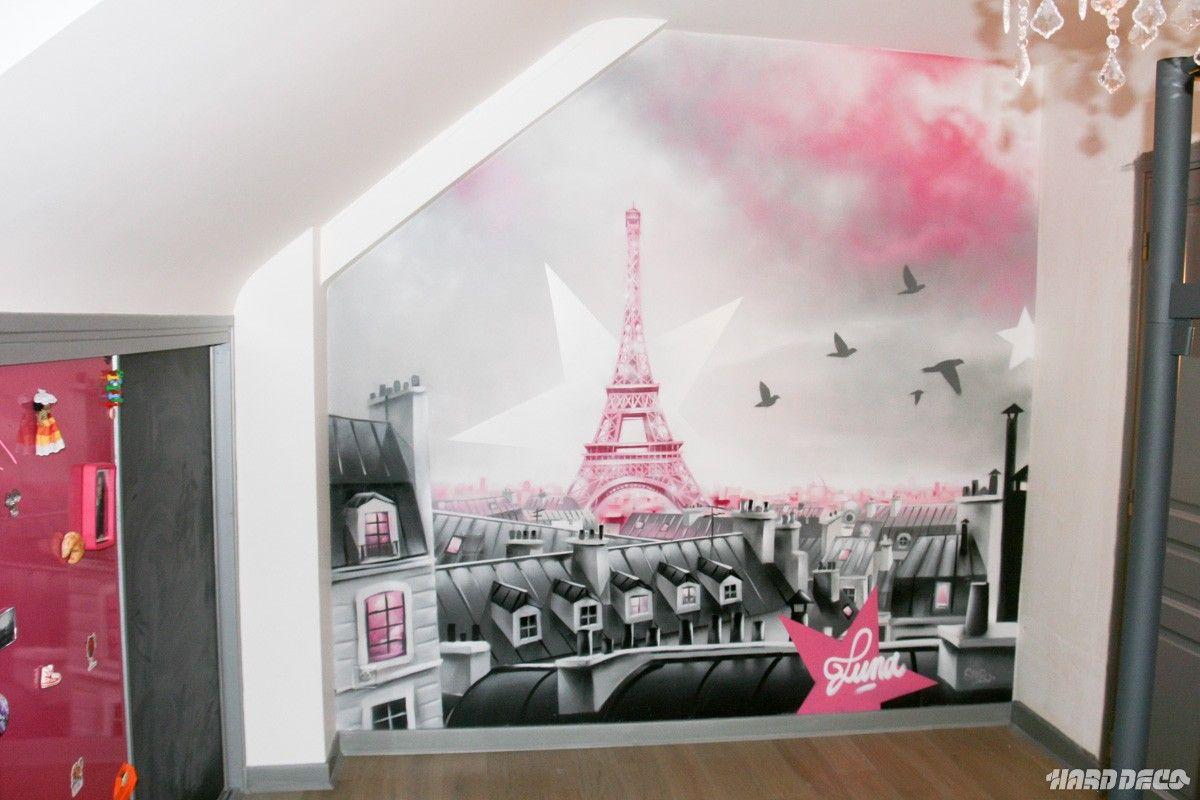 décoration chambre theme tour eiffel | Peintures décoratives ...