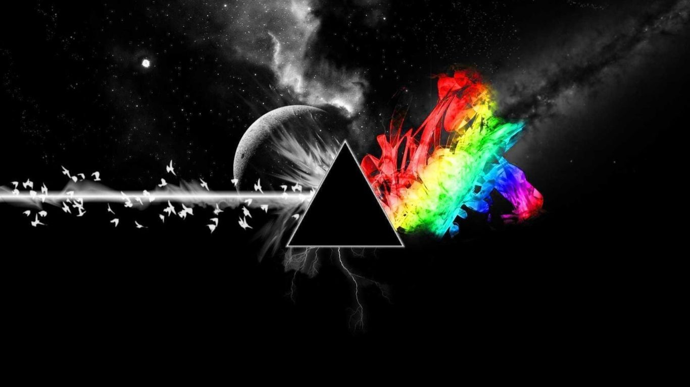 Pink Floyd The Dark Side Of The Moon Artwork 1366x768