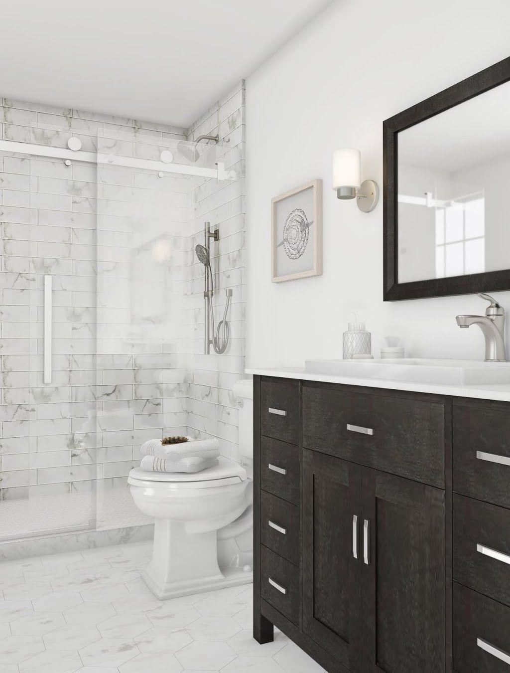 Msi Marmi Blanco White 4 In X 16 In Glazed Ceramic Wall Tile 11 Sq Ft Case Nhdmarbla4x16 Bathroom Trends Bathrooms Remodel Bathroom Interior Design