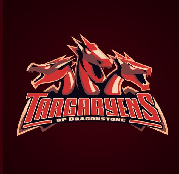 Game Of Thrones Sports Logos By Vanadium Sports Team Logos