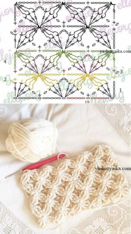 Crochet dtr/tr post stitches pattern. Pinned by Brown n\' Teal ...
