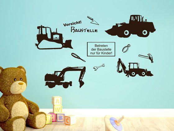 Wandtattoo Kinderzimmer Set Baustelle Bagger Fahrzeuge Wandtattoo Kinderzimmer Kinderzimmer Wandtattoo Kinderzimmer Junge
