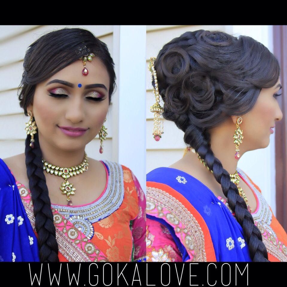 Makeup And Hair For A Garba Indian Wedding Braid Sangeet