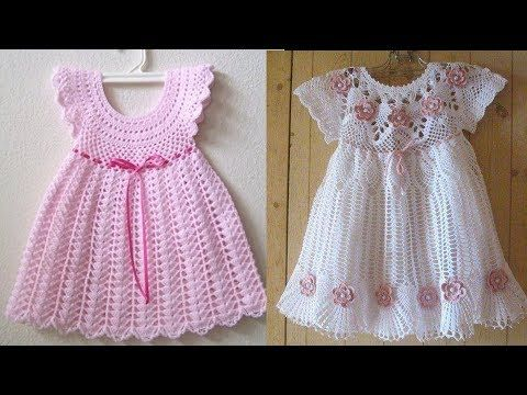 Hermosos Vestidos Tejidos A Crochet Para Bebes Y Niñas