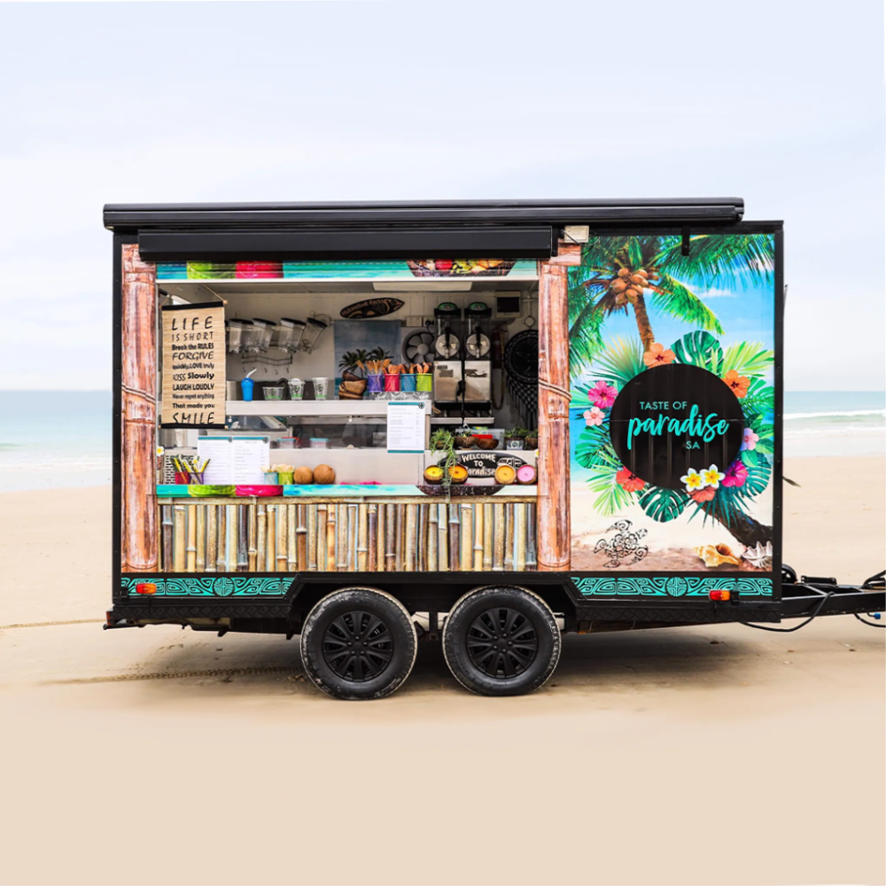 Tropical paradise food truck design in 2020 Food truck