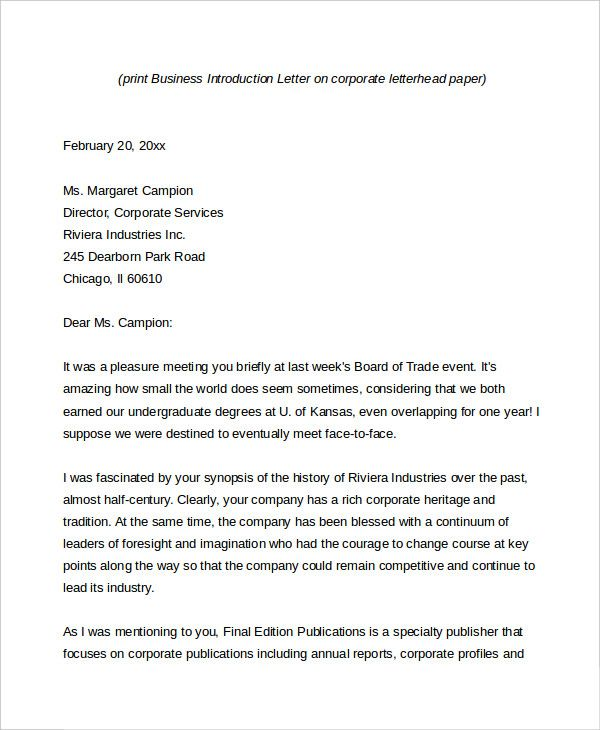 similiar company introduction keywords business letters letterhead - business letters