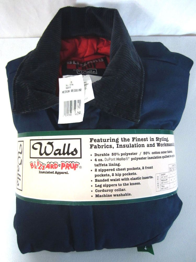 walls blizzard pruf proof insulated coveralls navy blue on walls coveralls id=87913