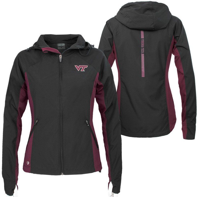 caf66a7bf Virginia Tech Women's Step Out Windbreaker Jacket – Campus Emporium ...