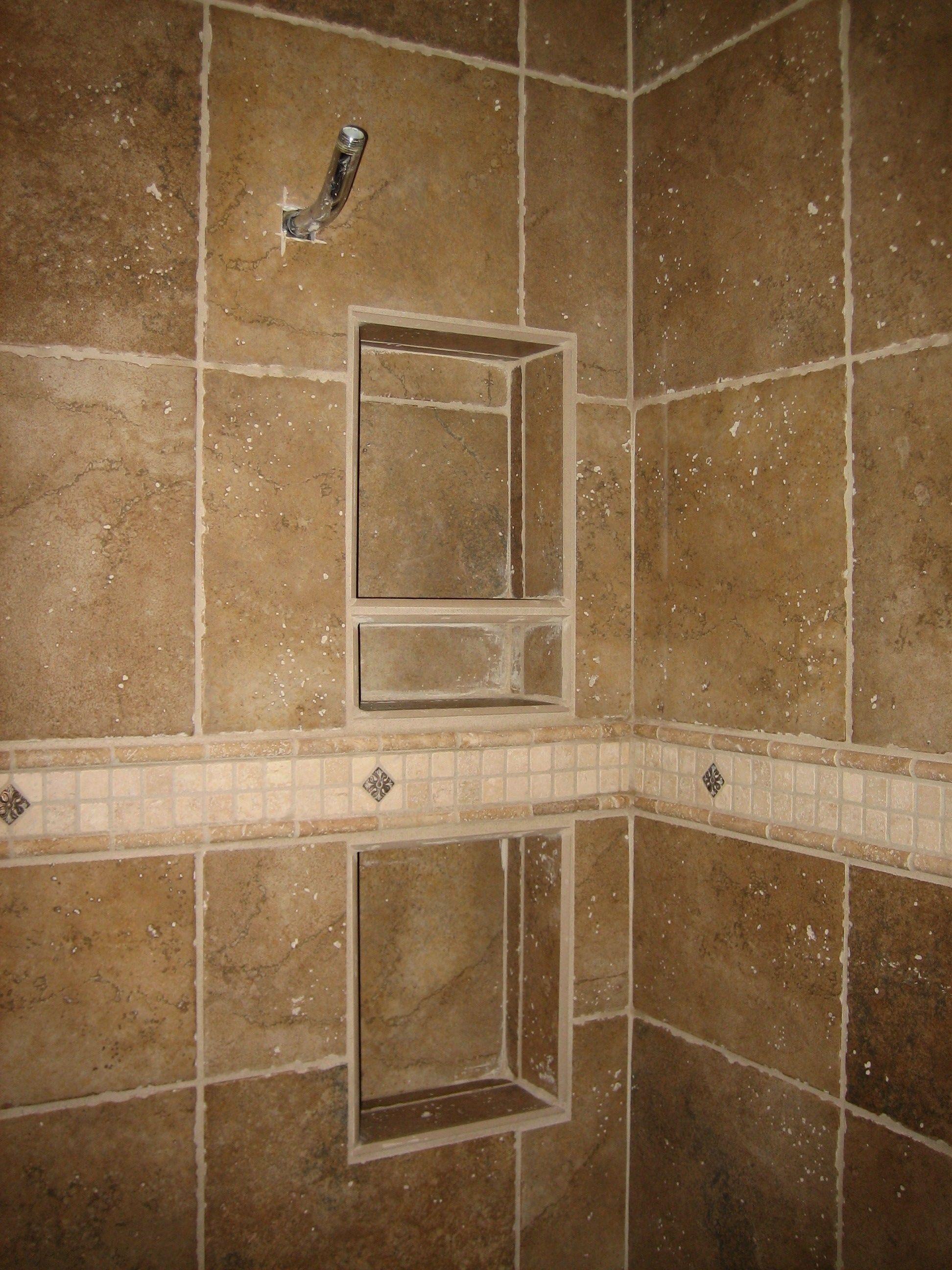 Ceramic tile shower caddy bathroom utensils pinterest tile ceramic tile shower caddy dailygadgetfo Image collections