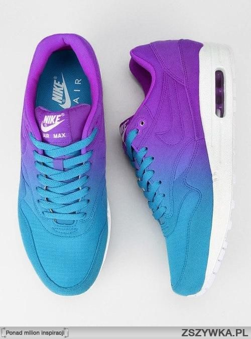 promo code 6072b a5614 Nike air max blue to purple ombre Air Max. LOVE these neon colored  sneakers. Wish I could have every pair in the world!