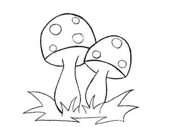 mushrooms | weihnachtsmalvorlagen, basteln herbst fensterbild, eulenzeichnungen