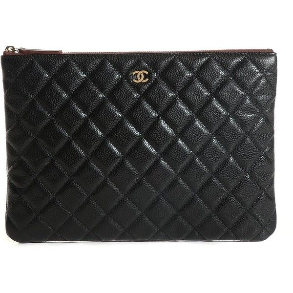 77a62d47c15c3e CHANEL Caviar Quilted Medium Cosmetic Case Black ❤ liked on Polyvore  featuring beauty products, beauty accessories, bags cases, make up bag,  dopp bag, ...