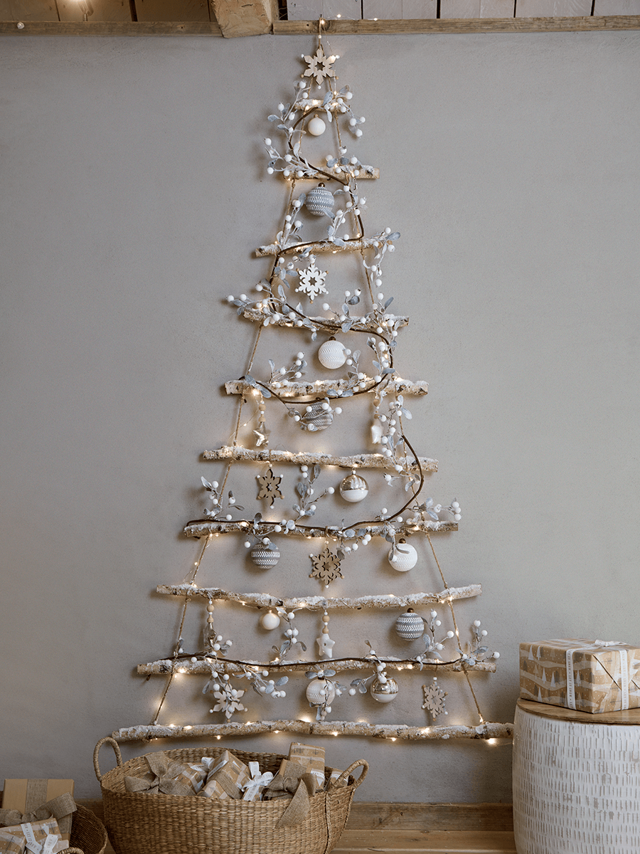 Frosted Branches Hanging Tree Small Christmas Decorations Easy Christmas Diy Christmas Tree Decorations Diy Affordable Christmas Decorations