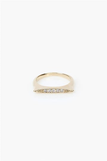 Necessary Clothing Ring Straight Line Gold