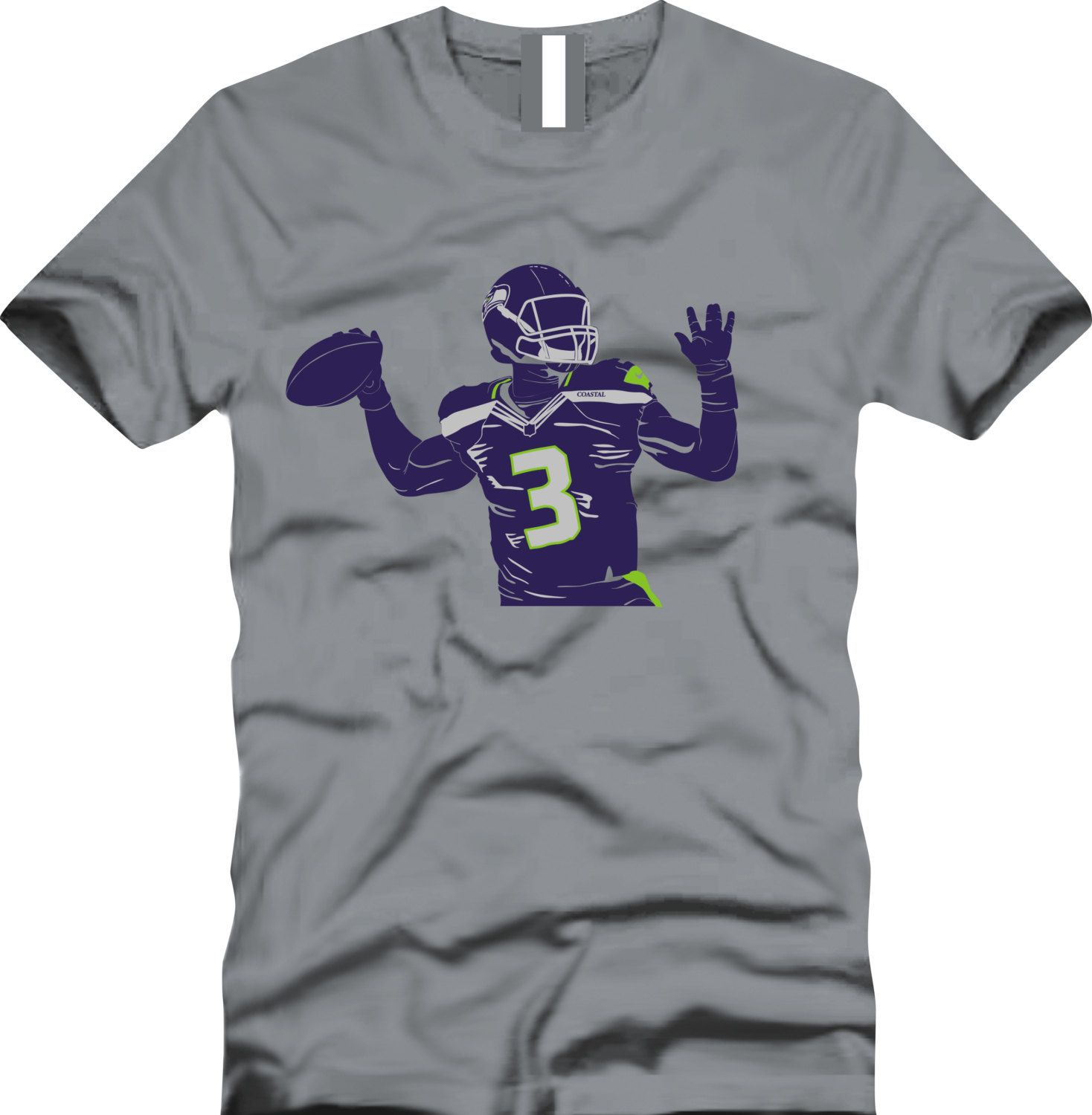 9bfd972b Russell Wilson RW3 Seattle Seahawks by CoastalClothingCo on Etsy ...