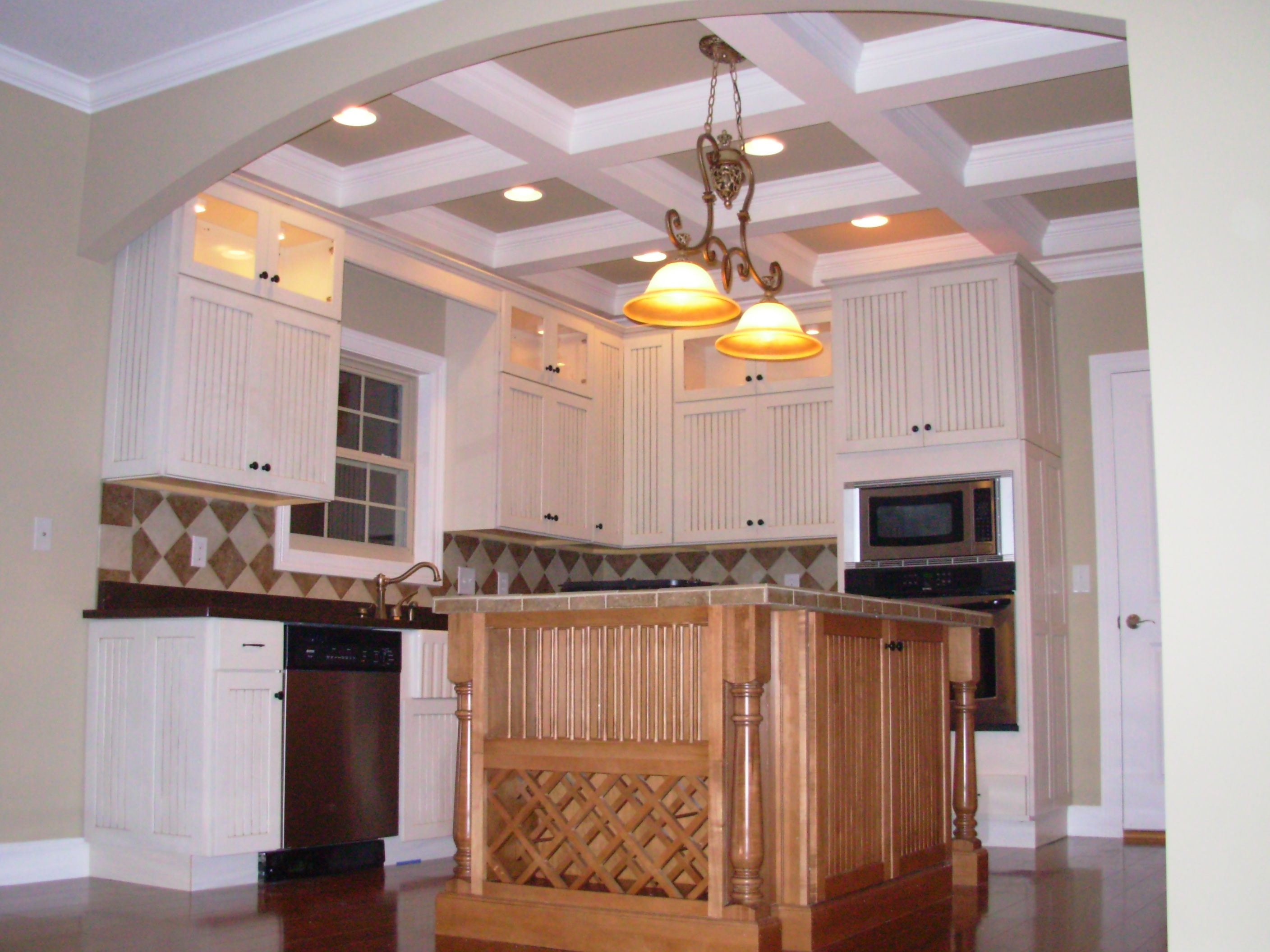 Coffered Ceilings, White Cabinets, Knoxville Builder, Luxe Homes And Design