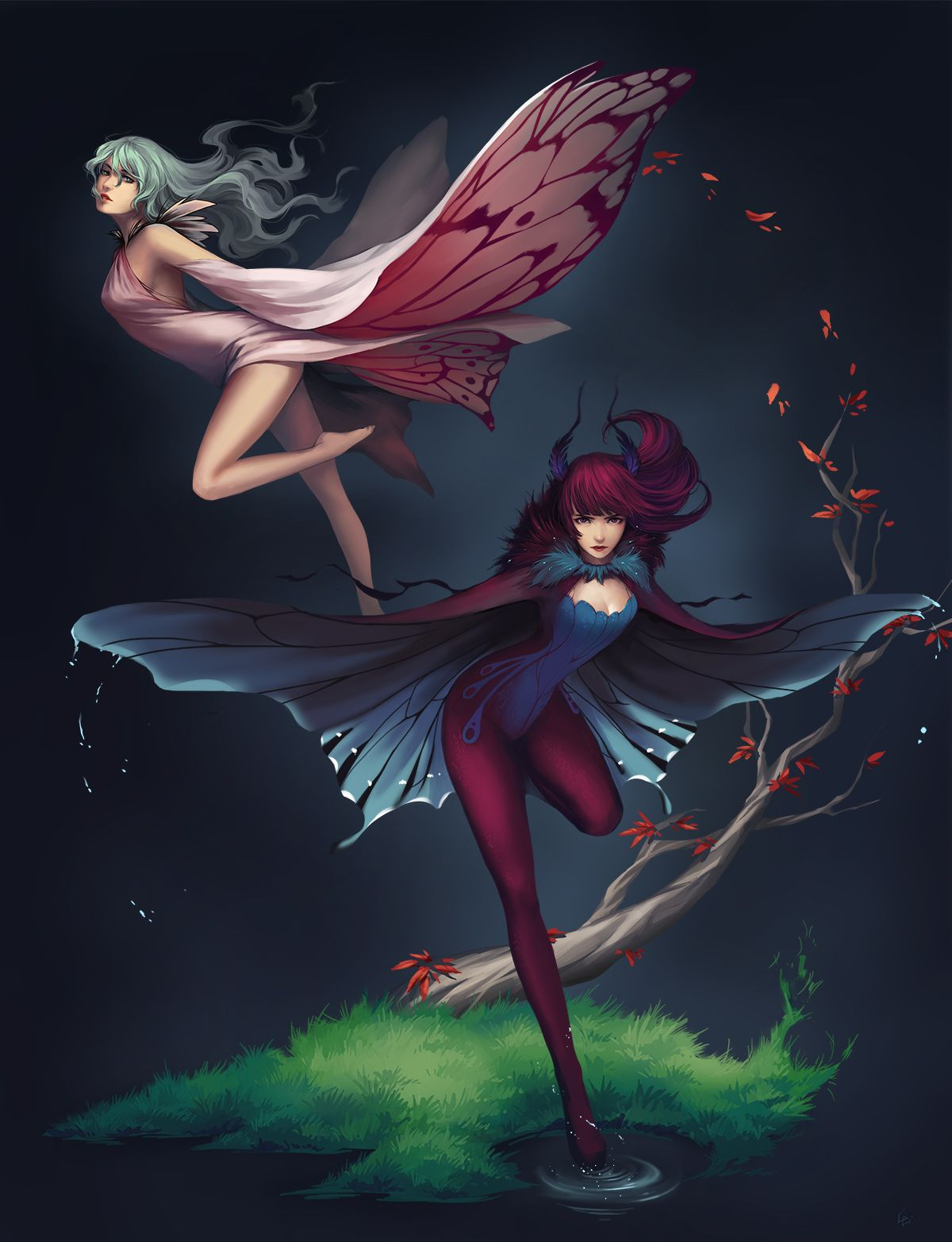 Cyrail Art Of Cg Girls Of Moth And Butterfly By Unodu Featured