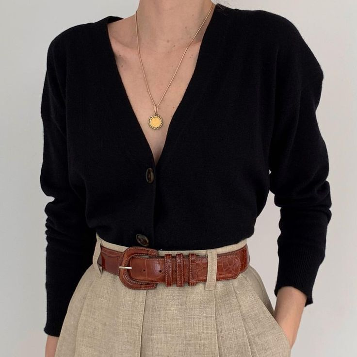 Oh my! Gorgeous vintage navy blue pure wool double-breasted knit sweater. So in ... - Outfits for Work 1