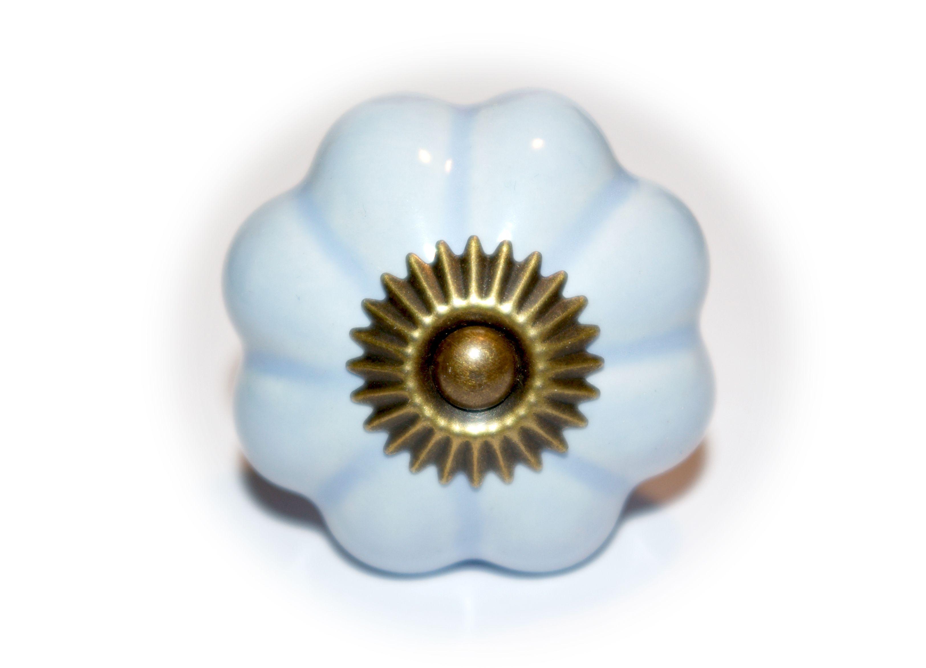 kastknoppen zwart : Porseleinen Kastknop Bloem Blauw Te Koop Bij Bonna Dotta Http