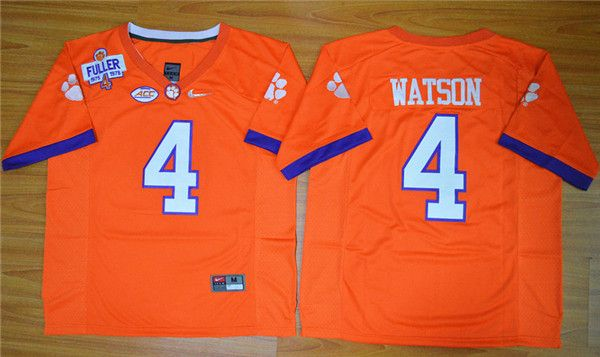 Clemson Tigers #4 Deshaun Watson Orange College Football Nike Limited Jersey