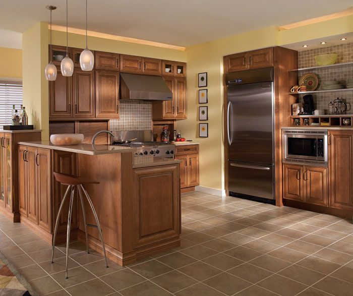 Medium Wood Kitchens: Maple Cabinets In Medium Finish