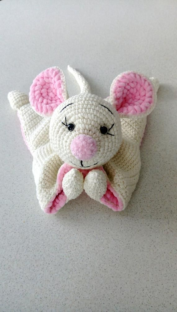 Cuddle And Play Mouse Crochet Baby Blanket Props For Newborns Etsy