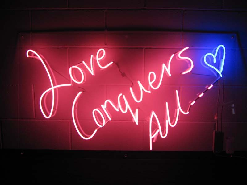 'Love Conquers All...' Neon by Neon Creations Ltd