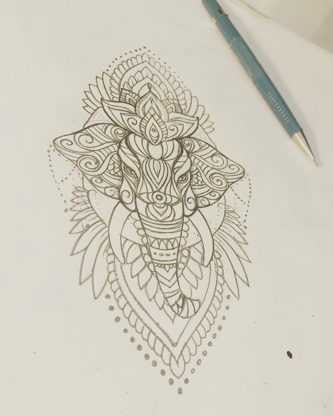 Elephant Mehndi Tattoo Sketch Mandala Tattoo Pinte