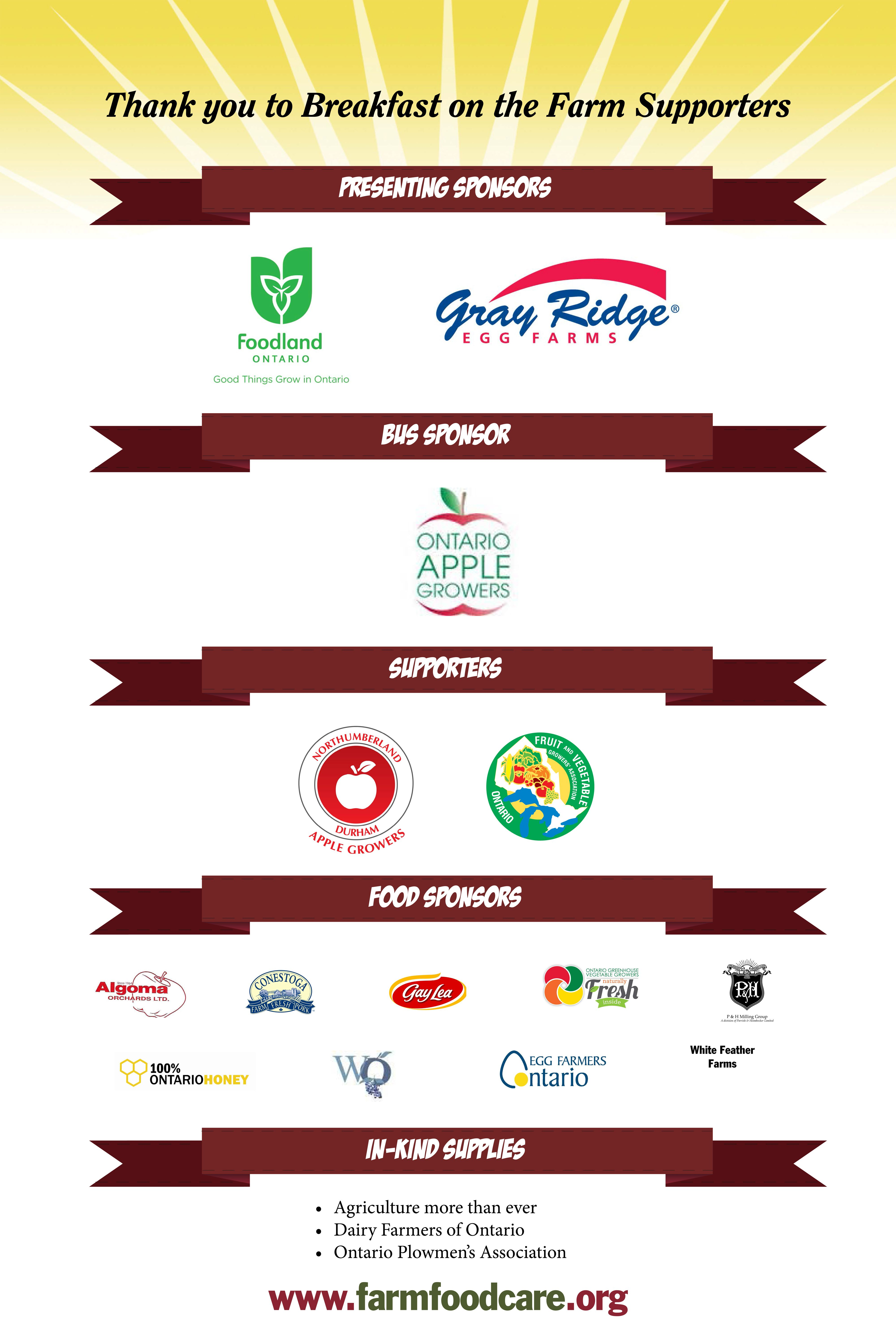 We have an amazing list of sponsors who made #FarmBkfst