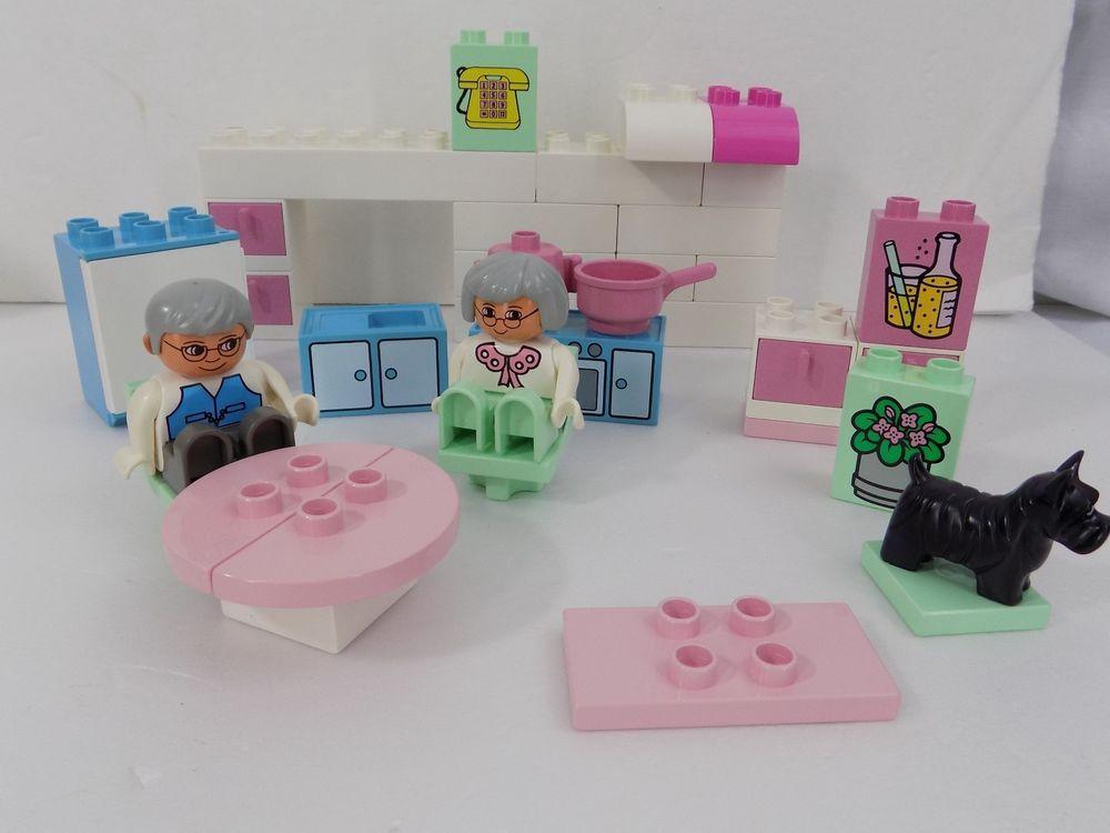 Lego Duplo Grandmas Kitchen Vintage Building Block Set 2551 Pastel