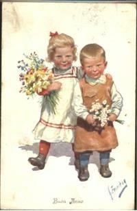 Feiertag Kinder Blumen x 1923