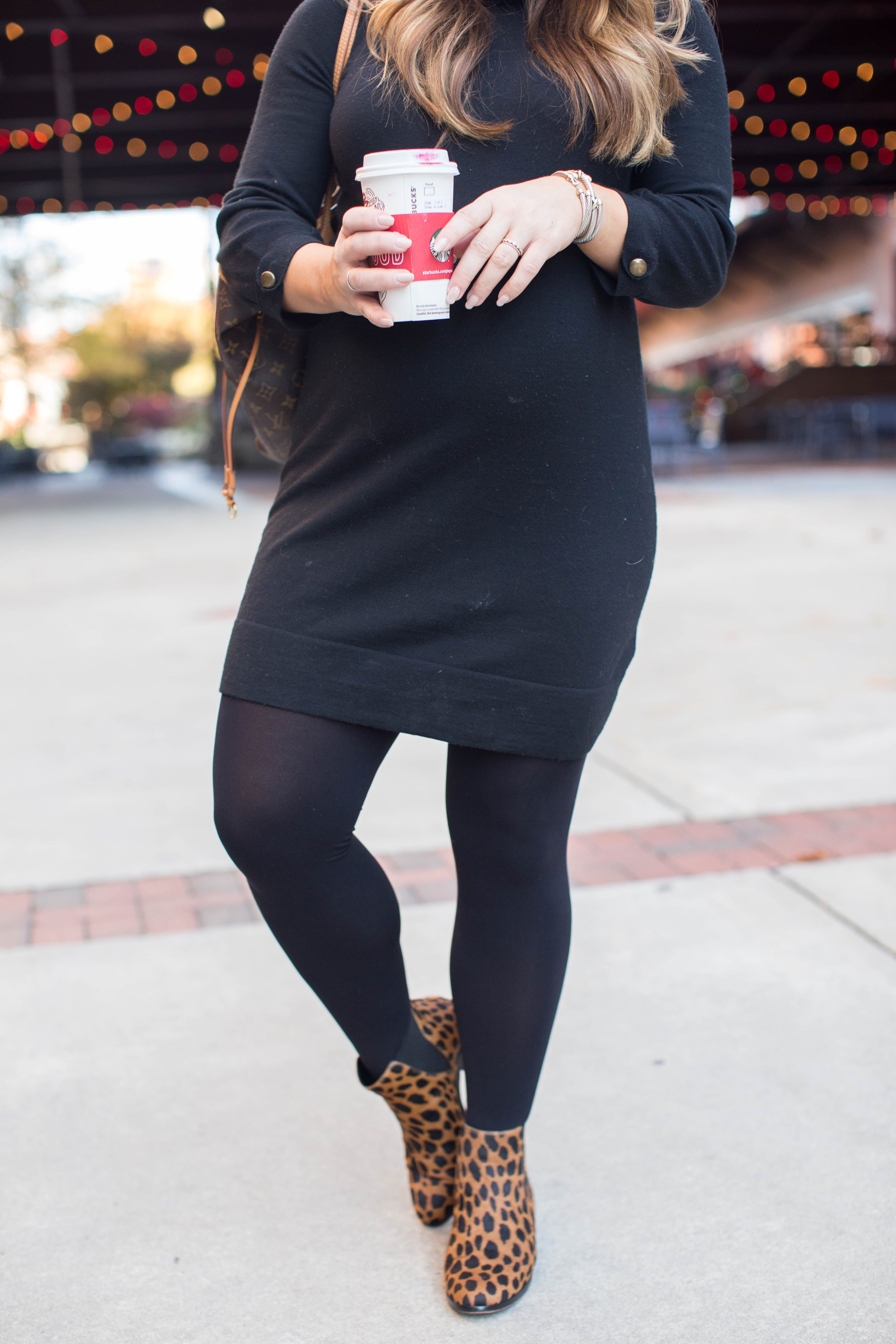 Little Black Turtleneck Dress | Coffee Beans and Bobby Pins #ad,  #BboxxPartyReady