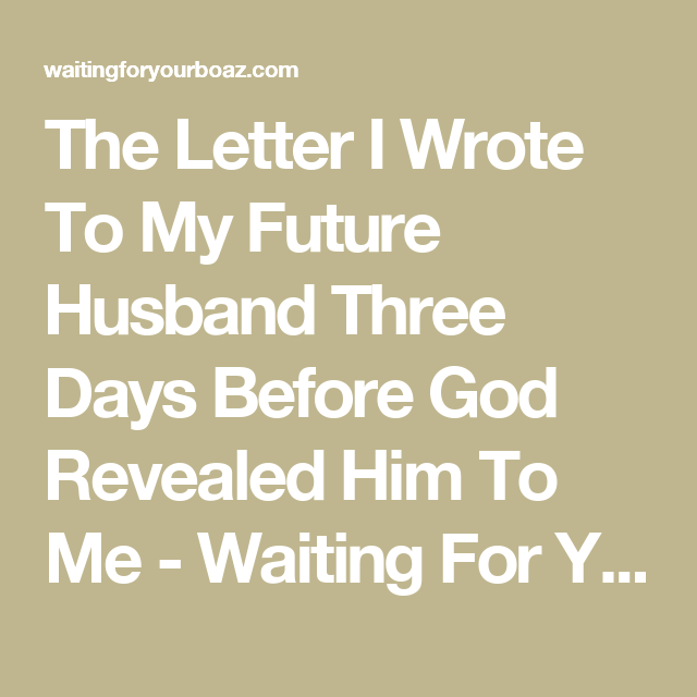 Ultimatum letter to husband