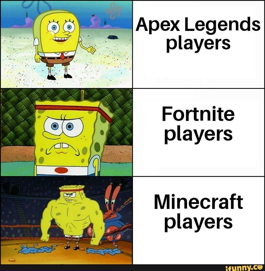 Fortnite Players Minecraft Players Ifunny Memes Engracados Minecraft Engracado Meme Da Monica