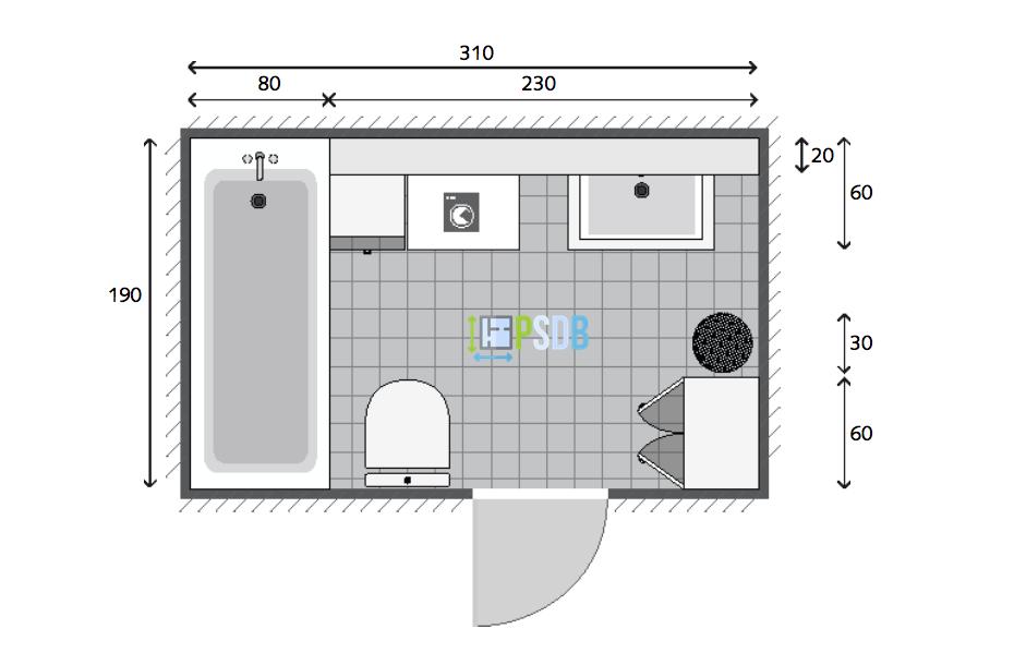 Exemple De Plan De Salle De Bain De 5 9m2 Plan Salle De Bain Idee Salle De Bain Salle De Bain 5m2