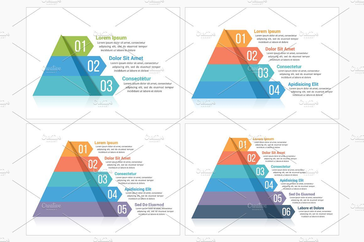 Pyramid Infographics Infographic Image Font Pyramids