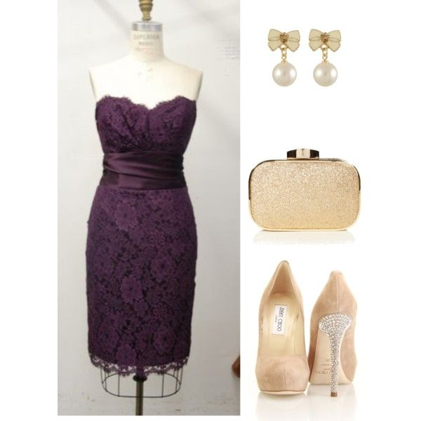 """""""Purple Lace & Golden Bling"""" by rebeccanash on Polyvore"""