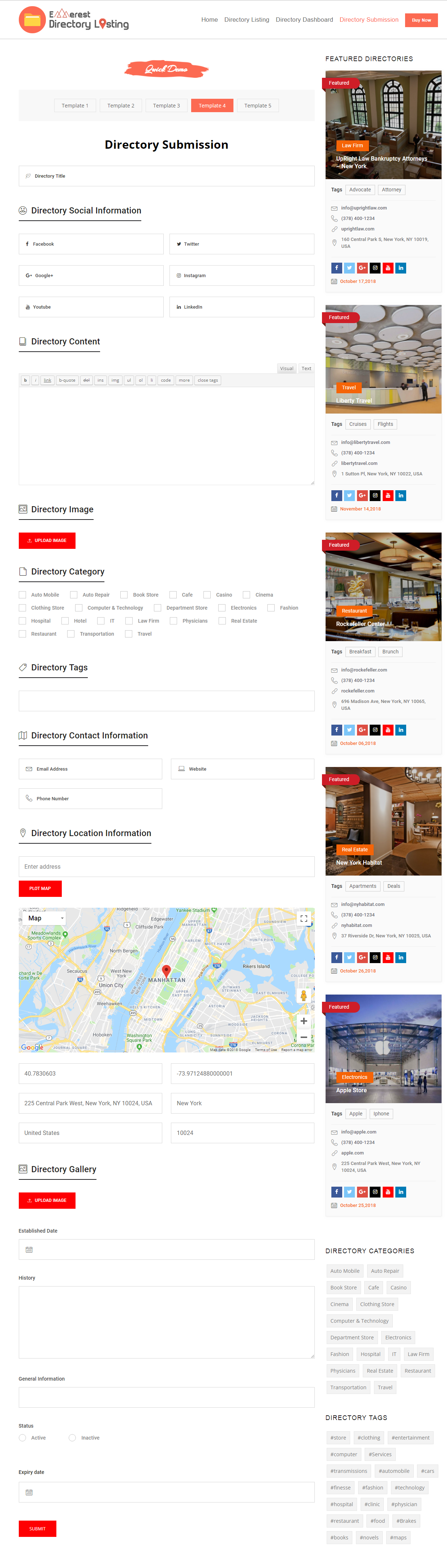 Everest Business Directory A Complete Business Directory Wordpress Plugin Wordpress Plugins Plugins Wordpress